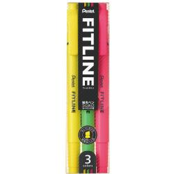 Pentel Fitline Highlighter 3 C...
